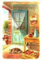 Chat Dans La Cuisine  - Aquarelle De Danielle Lebeau - Chats