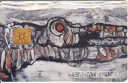 MEXICO - El Paseo Del Caiman, Painting/Alvaro Blancarte, Telnnor Telecard $50, Chip GEM1.2, 07/97, Used - Mexico