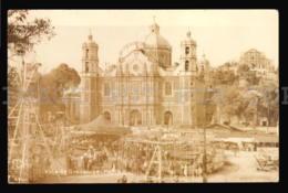 MEXICO REAL PHOTO VILLA DE GUADALUPE CARROUSEL Merry-go-round CARTOLINA ORIGINAL Ca1900 POSTCARD CPA AK W5-047 - Messico