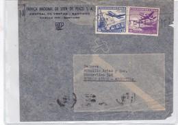 FABRICA NAC DE LOZA DE PENCO SA SOBRE ENVELOPE CIRCULEE CHILE TO BUENOS AIRES CIRCA 1953 AIRMAIL- BLEUP - Chile