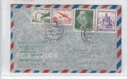 FIRST FLIGHT AMERICA DEL SUD BOEING JET 720 B LUFTHANSA SANTIAGO FRANKFURT 1961. CHILE- BLEUP - Chile