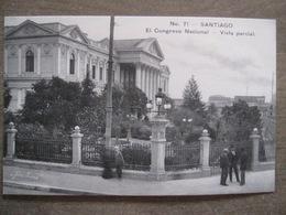 Tarjeta Postal - Chile Chili - Santiago - El Congreso Nacional Vista Parcial - Hnos Ahumada 393 No. 71 - Foto Leon - Chile