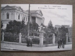 Tarjeta Postal - Chile Chili - Santiago - El Congreso Nacional Vista Parcial - Hnos Ahumada 393 No. 71 - Foto Leon - Chili