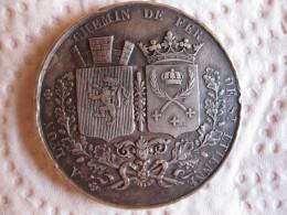 Médaille En Argent Chemin De Fer De Saint-Etienne à Lyon 1826, Par Tiolier - Francia