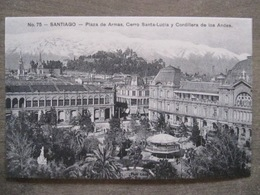 Tarjeta Postal - Chile Chili - Santiago - Plaza De Armas Cerro Santa-Lucia - Hnos Ahumada 393 No. 75 - Foto Leon - Chili