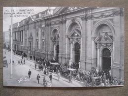 Tarjeta Postal - Chile Chili - Santiago - Salida De Misa De 12 M. Catedral - Hnos Ahumada 393 No. 78 - Foto Leon - Chili