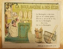 Rare Chromo Ricqlès La Boulangère à Des écus - Chromos