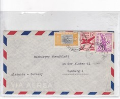 SOBRE ENVELOPE AIRMAIL CIRCULEE BOLIVIA TO GERMANY CIRCA 1950's- BLEUP - Bolivia