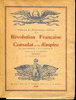 CORNUAU P. & LHOMER J. - TABLEAUX DES PERSONNAGES CELEBRES DE LA REVOLUTION CONSULAT & EMPIRE , BROCHÉ 96 PAGES - TB - Bibliographien