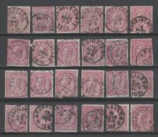 Belgique - 1884-91 . Obl. - COB 46 - 10c - LOT Pour Etudes  . B - - 1869-1888 Lying Lion