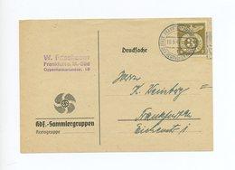 1944 3. Reich Seltene  KdF Sammlergruppen Neuheitendienst Sonderkarte Mit  MI 830 Im Ortsverkehr - Deutschland