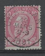 Belgique - 1884-91 . Obl. - COB 46 - 10c - Oblitération - CHASSART - Très Rare - - 1884-1891 Leopold II
