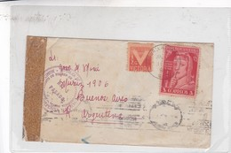 SOBRE ENVELOPE CIRCULEE CUBA TO ARGENTINE AUTRES MARQUES CIRCA 1943- BLEUP - Covers & Documents