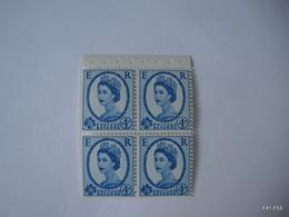 GREAT BRITAIN - GB 1952. Queen Elizabeth II. SG 520: 3d. Block Of 4 Stamps (MH) & SG 521: 4d. Block Of 4 Stamps (MNH) - 1952-.... (Elizabeth II)