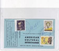 AMERICAN CULTURAL INTERCHANGE SOBRE AIRMAIL CIRCULEE BOLIVIA TO USA CIRCA 1964- BLEUP - Mexico
