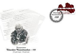 Latvia.2018.Eduards Rozenštrauhs - Latvian Composer.Special Cancellations. - Music