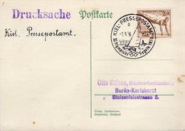 CARTE POSTALE 1936 - OBLIT.TEMPORAIRE, REGATES - VERSO VIERGE - - Germany