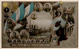 Carte Photo - Republica Argentina - 1810/1910 - La Escuadra En El Puerto Madero , Buenos Aires - AA53 - Argentine
