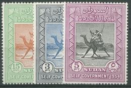 Sudan 1954 Selbstverwaltung Kamelreiter 148/50 Postfrisch - Sudan (1954-...)
