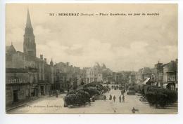 Bergerac Place Gambetta Un Jour De Marché - Bergerac