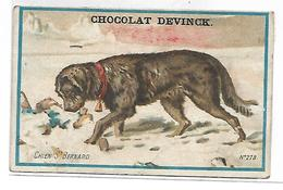 CHROMO - Chocolat DEVINCK - Chien St Bernard - Chocolat