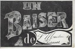 """14 - St MARTIN DE BESACES - ( CALVADOS ) - Carte Fantaisie """" Un Baiser De ..."""" - Francia"""