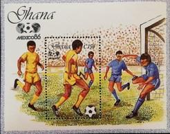 Ghana 1986 World Cup Soccer Championship ,Mexico S/S - Ghana (1957-...)