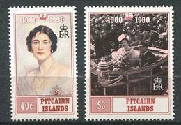 229 PITCAIRN 1990 - Yvert 347/48 - Reine Mere Elizabeth - Neuf **(MNH) Sans Trace De Charniere - Timbres
