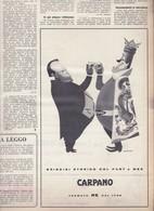 (pagine-pages)PUBBLICITA' PUNT E MES  L'europeo1956/555. - Books, Magazines, Comics
