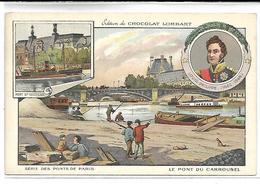 CHROMO - Chocolat LOMBART - Série Des Ponts De Paris - Le Pont De Carrousel - Lombart