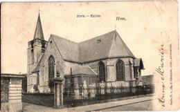 2 Oude  Postkaarten Hove Kerk  Uitg. Hermans N°154 Kapelstr N°149  1903 ( 1 Kaart Met Afgesneden Hoeken) - Hove