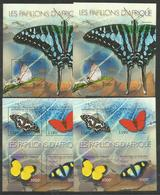 BURUNDI - MNH - Animals - Insects - Butterflies - Perf. + Imperf. - Butterflies