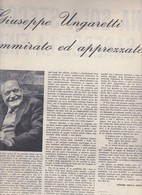 (pagine-pages)GIUSEPPE UNGARETTI  Rotosei1960/49. - Books, Magazines, Comics
