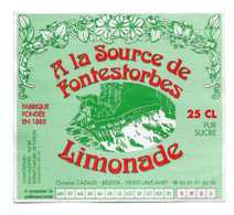 ETIQUETTE LIMONADE A LA SOURCE DE FONTESTORBES  Ch CAZAUD Lavelanet ARIEGE - Labels