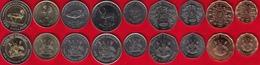 Uganda Set Of 9 Coins: 1 - 1000 Shillings 1987-2012 UNC - Ouganda
