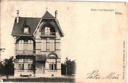 3 Oude  Postkaarten   Hove  Villa Ons Genoegen  Hermans  N°142  1904 Onderwijzerswoning  Kapellestr.(afgesneden Hoeken) - Hove