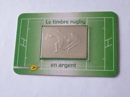 LE TIMBRE RUGBY 2011 : Timbre En ARGENT 999 Millièmes Dans Son Blister étanche - Pays : FRANCE - Rugby