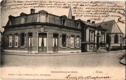 1 Oude  Postkaart  Hove   Gemeentehuis & Kerk  Uitgever  Hermans N° 114  1904 - Hove