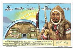 CHROMO -  Compagnie LIEBIG - La Transmission Des Nouvelles Chez Les Peuples Primitifs - 4 - Liebig