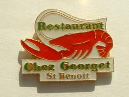 Pin's HOMARD - RESTAURANT CHEZ GEORGET - ST BENOIT - Animaux