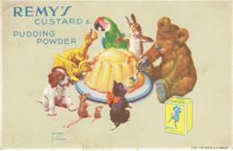 Publicité Custard & Pudding Power Remy's Lith. Signé Lawson Wood J.de Greve Bruxelles Annimaux 1936 - Werbepostkarten