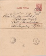 ENTERO ENTIER CIRCULADO FULL CONTENT INSIDE BUZONISTAS CAPITAL NRO 4 AÑO 1891 ARGENTINE- BLEUP - Postal Stationery