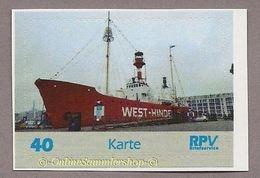Privatpost - RPV - Feuerschiff West-Hinden In Zeebrügge, Belgien - Schiffe