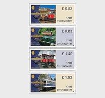 Isle Of Man 2018 - Manx Electric Railway 125th Anniv. (Value Definitives Set) - Isle Of Man