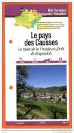 48 Lozère LE PAYS DES CAUSSES VALAT DE LA VINADE Languedoc Roussillon Fiche Dépliante Randonnées & Balades - Géographie