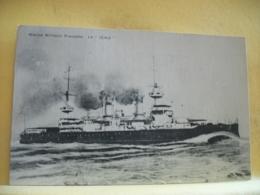 """L10 9587 CPA 1907 - BATEAUX - MARINE MILITAIRE FRANCAISE. LE """"IENA"""" - Guerra"""