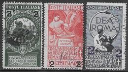 Italia Italy 1913 Regno Soprastampati Sa N.99-101 Completa US - 1900-44 Vittorio Emanuele III