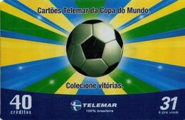 TARJETA TELEFONICA DE BRASIL (FUTBOL, COPA DEL MUNDO, COLECCIONE VICTORIAS, 02/2006). (441) - Brazil