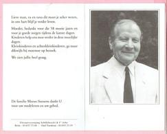 Bidprentje - Eduard MEEUS Echtg. Julia Stessens Oudstrijder 1940 1945 - Oud Turnhout 1916 - Schoonbroek 1996 - Religion & Esotérisme