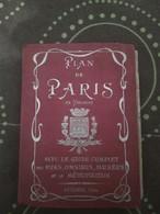 FRANCE - PLAN DE PARIS - GUIDE COMPLET DES RUES, OMNIBUS, MUSÉES ET LE MÉTROPOLITAIN - MAP - Geographical Maps